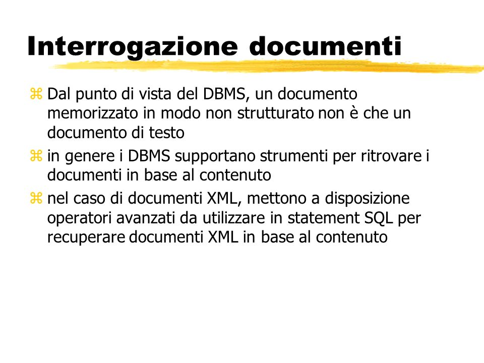 Interrogazione documenti