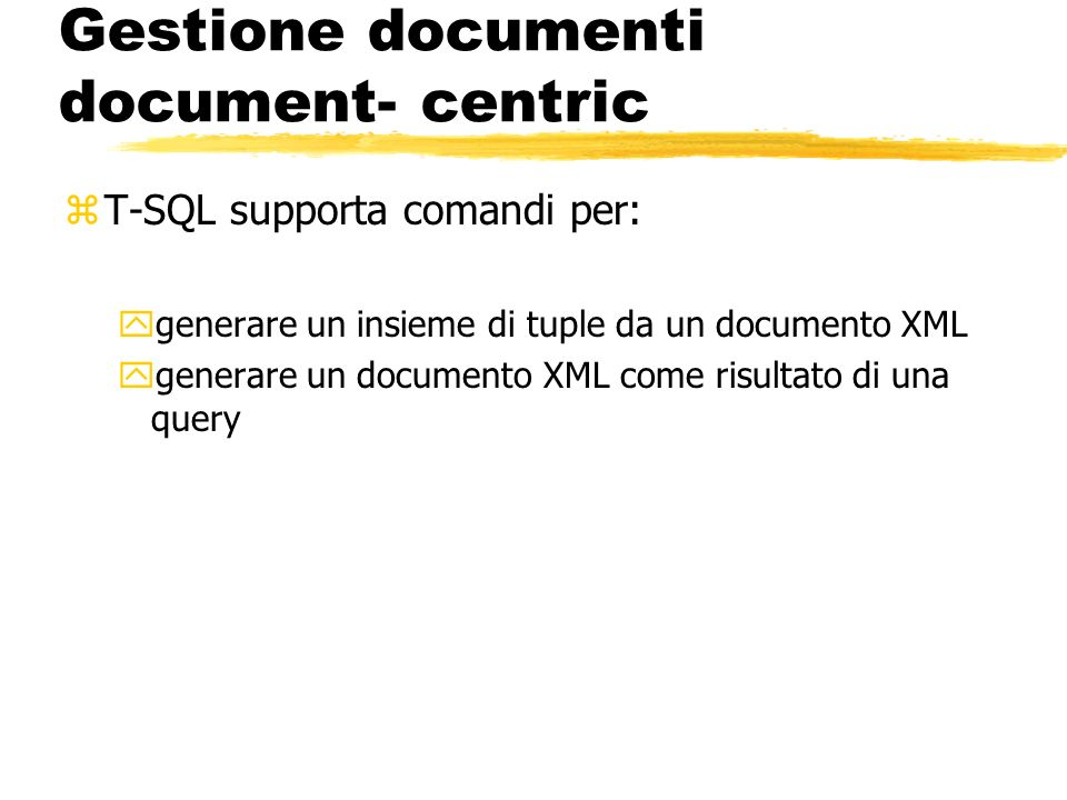 Gestione documenti document- centric