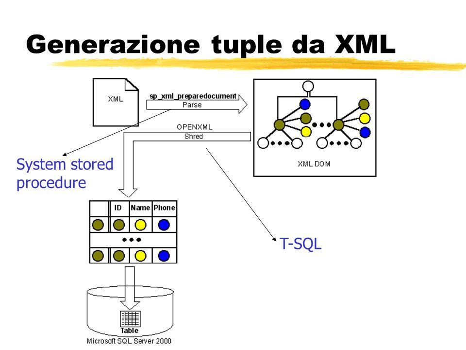Generazione tuple da XML