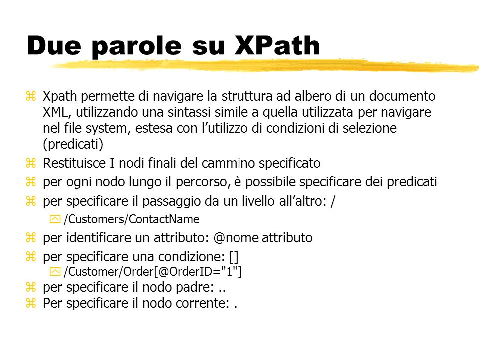 Due parole su XPath