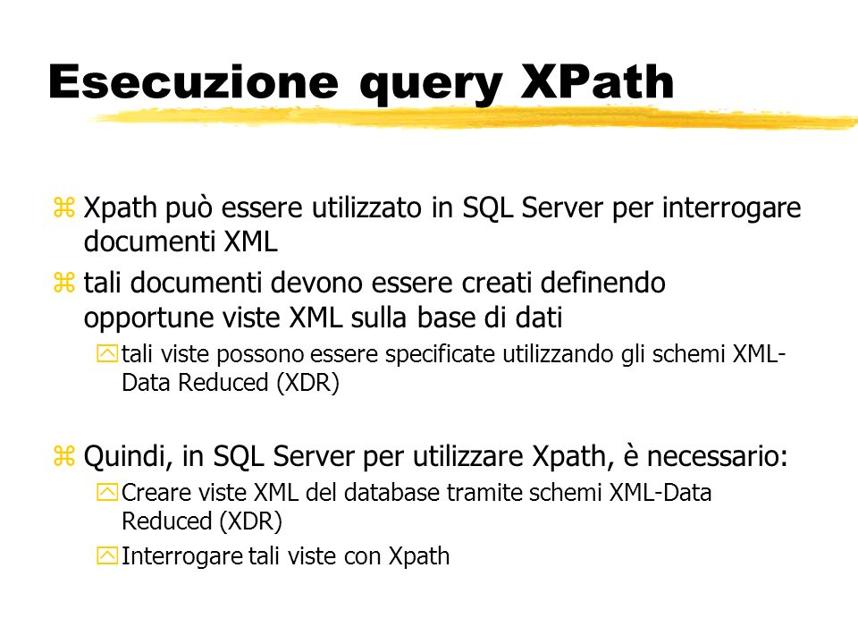 Esecuzione query XPath