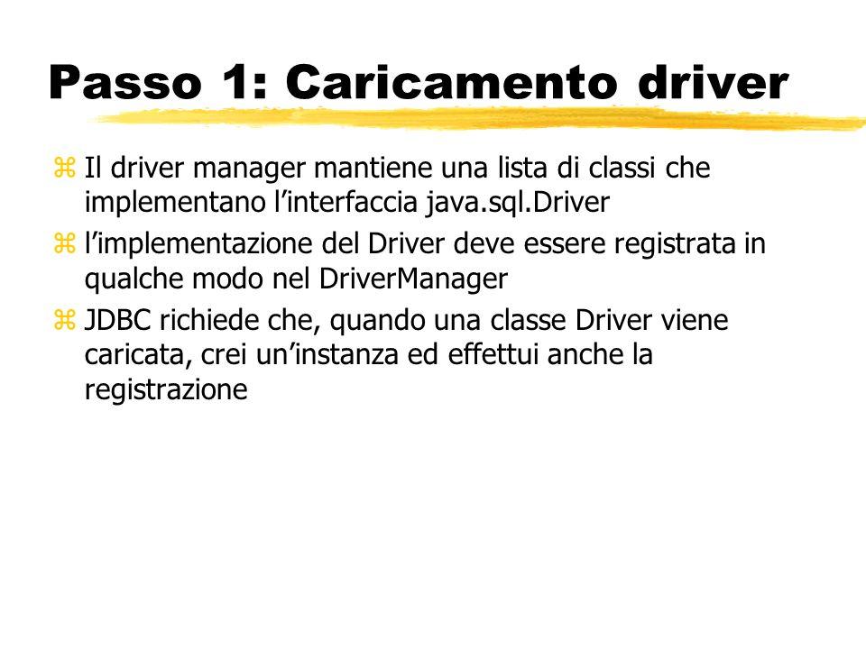 Passo 1: Caricamento driver