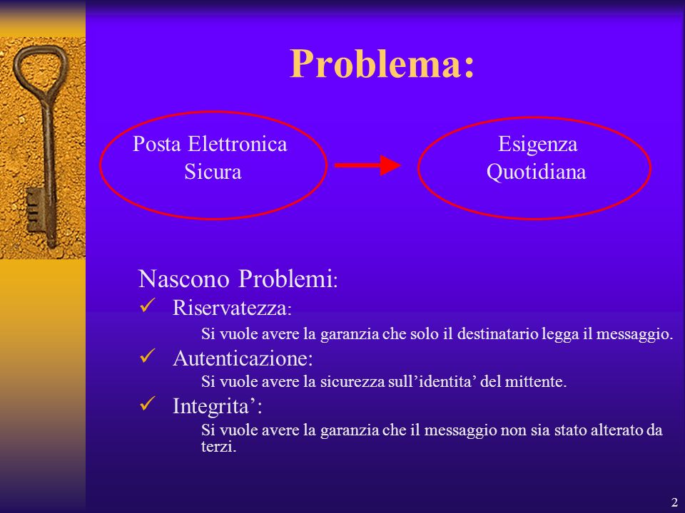 Problema: Nascono Problemi: Posta Elettronica Esigenza
