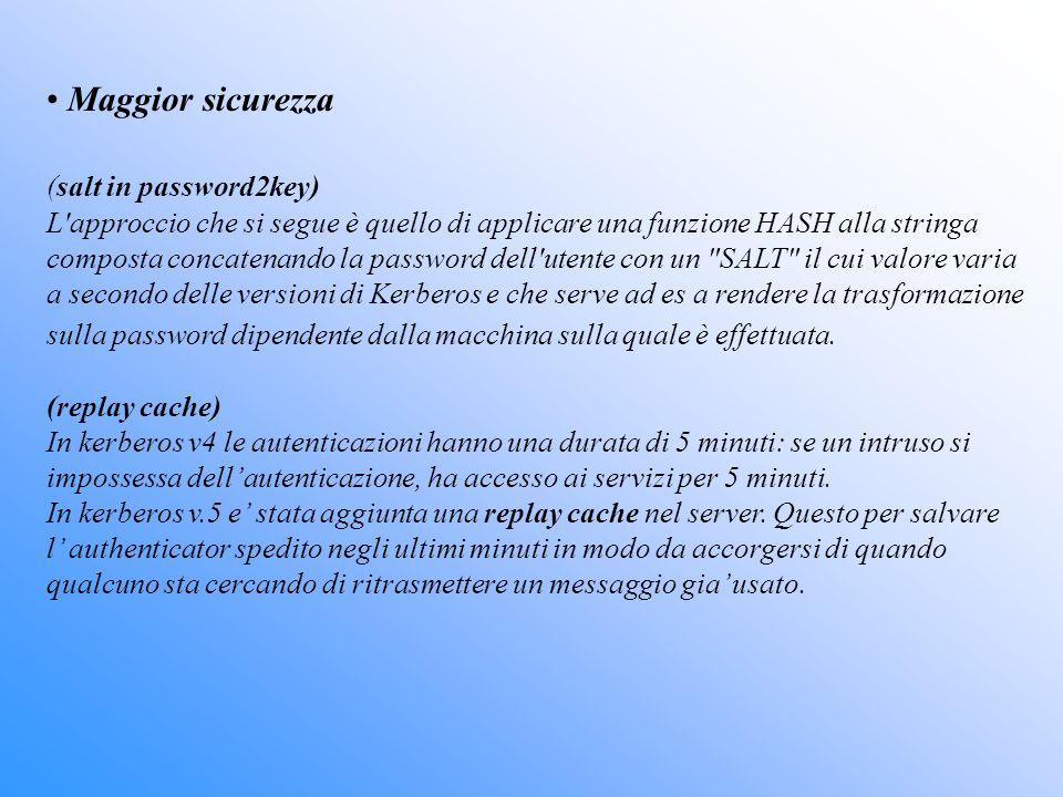 Maggior sicurezza (salt in password2key)