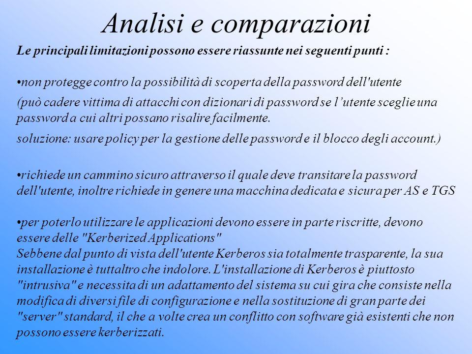 Analisi e comparazioni