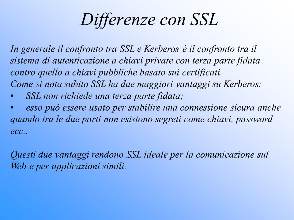Differenze con SSL