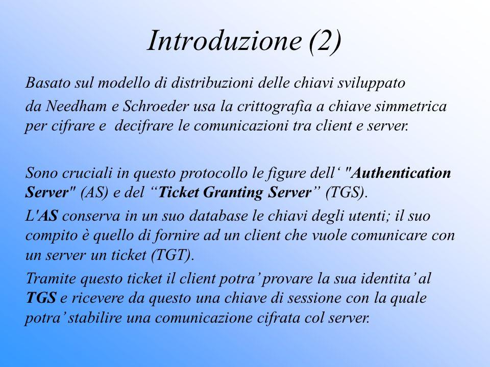 Introduzione (2) Basato sul modello di distribuzioni delle chiavi sviluppato.