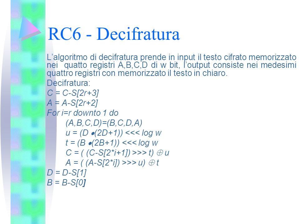 RC6 - Decifratura