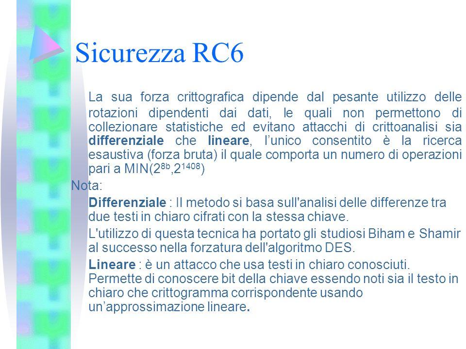 Sicurezza RC6