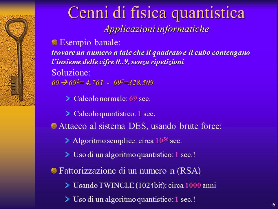 Cenni di fisica quantistica