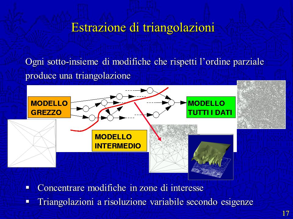 Estrazione di triangolazioni