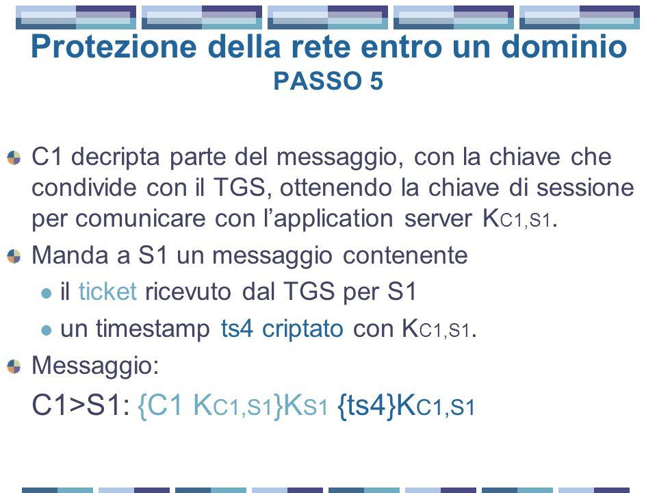 Protezione della rete entro un dominio PASSO 5