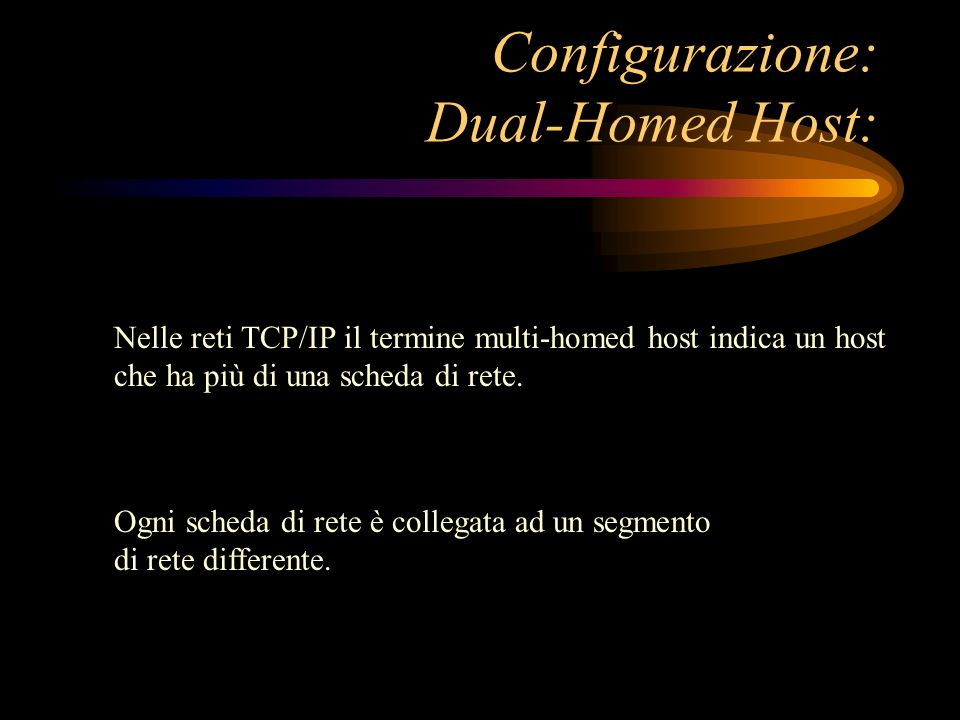 Configurazione: Dual-Homed Host:
