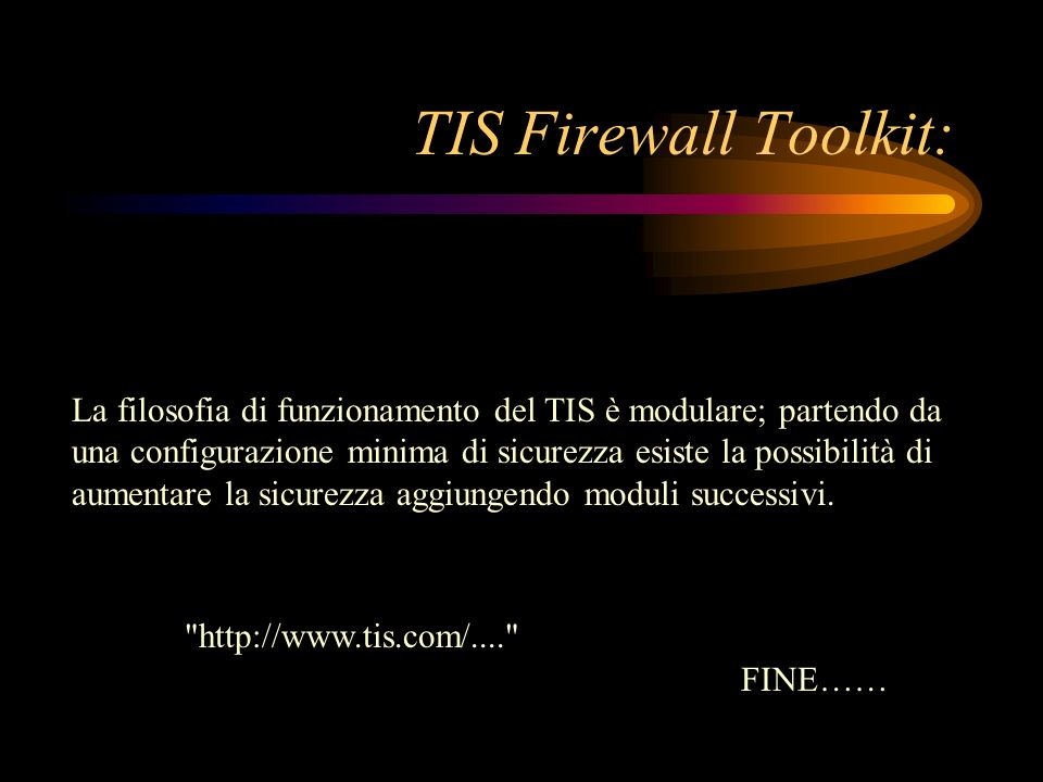 TIS Firewall Toolkit: