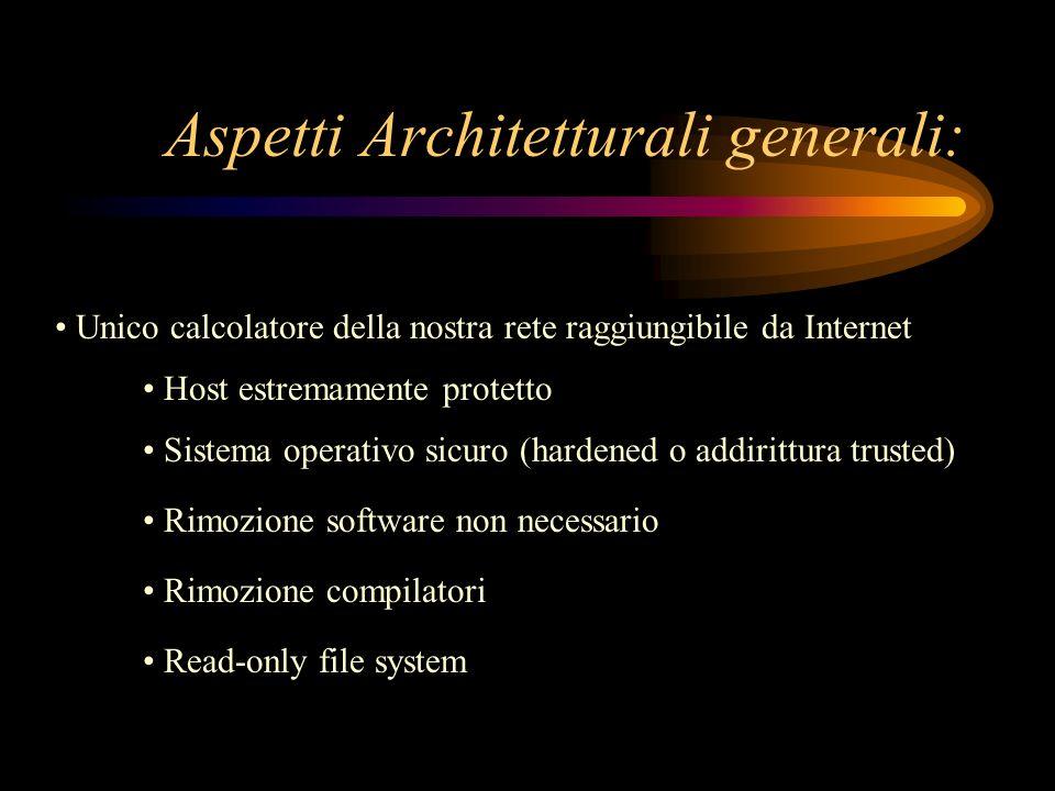 Aspetti Architetturali generali: