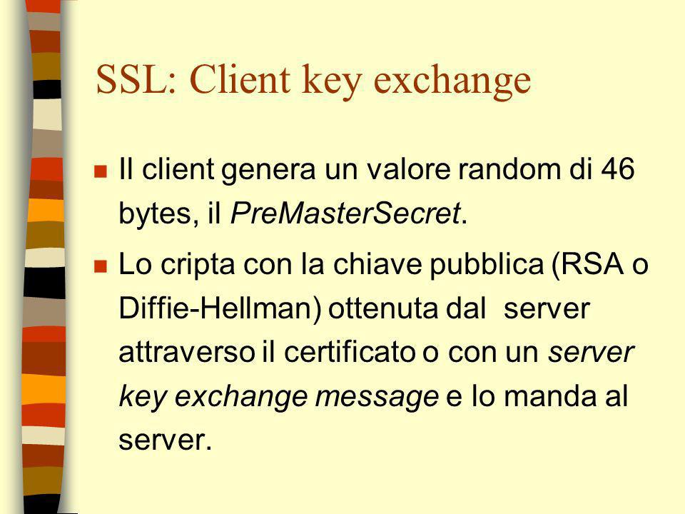 SSL: Client key exchange