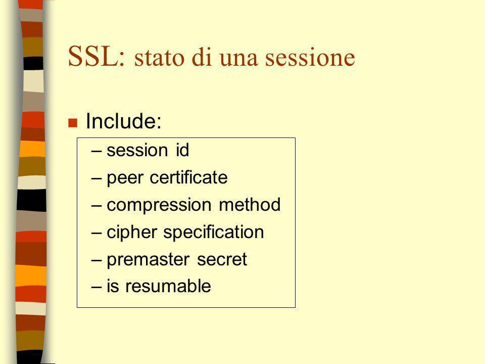 SSL: stato di una sessione