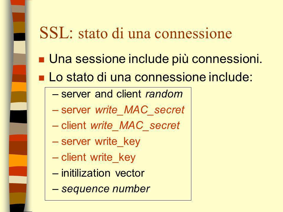 SSL: stato di una connessione