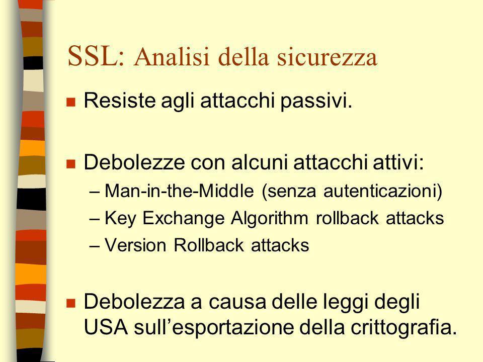 SSL: Analisi della sicurezza