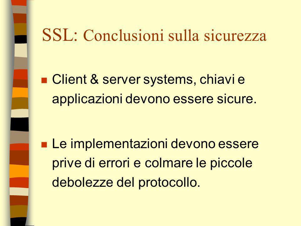 SSL: Conclusioni sulla sicurezza