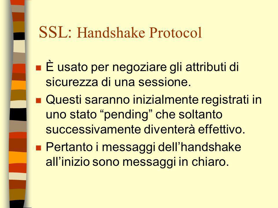 SSL: Handshake Protocol