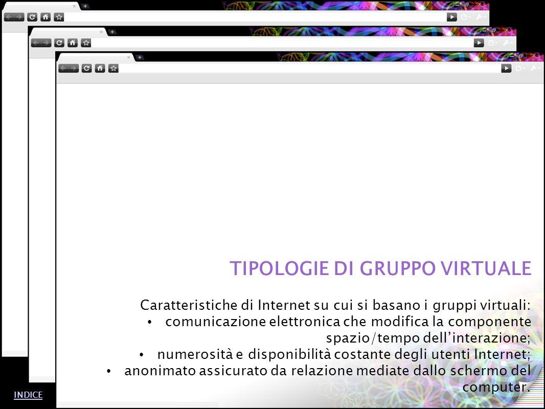TIPOLOGIE DI GRUPPO VIRTUALE