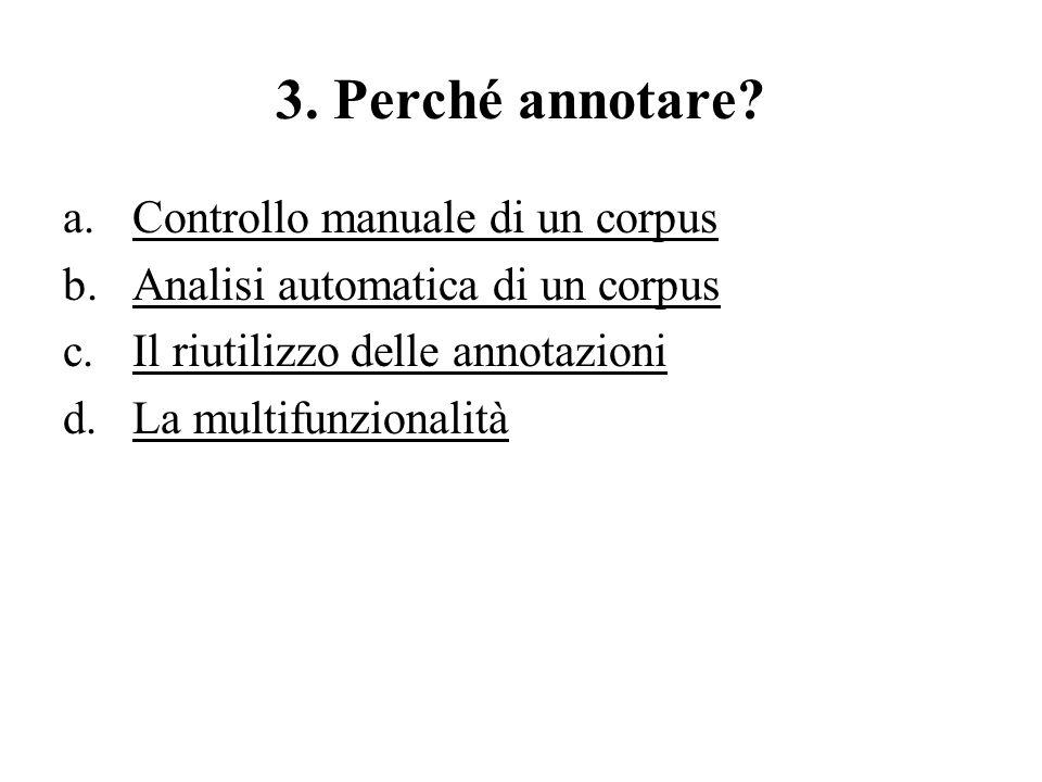 3. Perché annotare Controllo manuale di un corpus