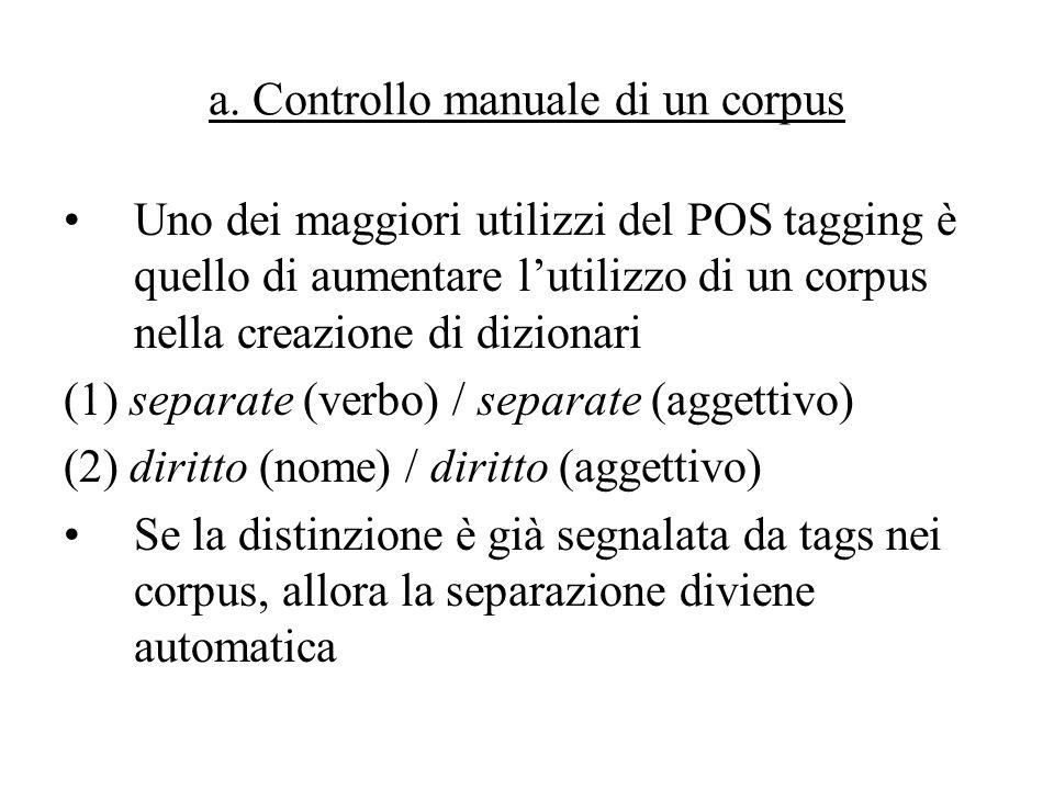 a. Controllo manuale di un corpus