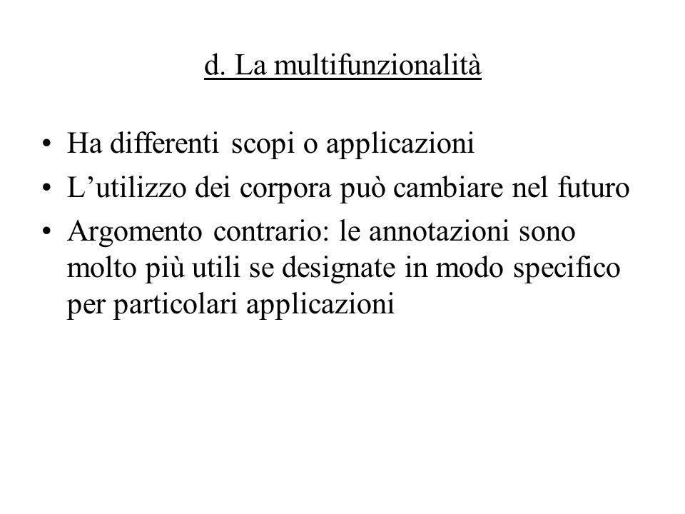 d. La multifunzionalità