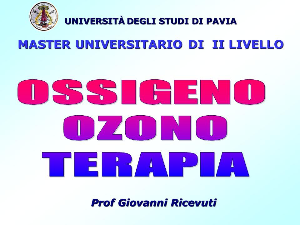 UNIVERSITÀ DEGLI STUDI DI PAVIA MASTER UNIVERSITARIO DI II LIVELLO