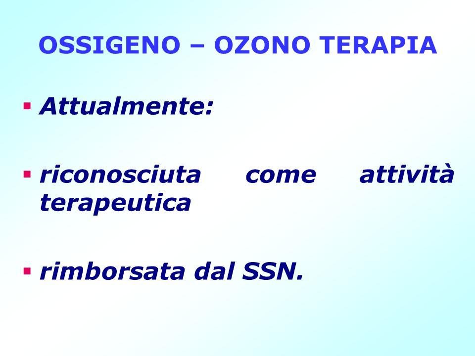 OSSIGENO – OZONO TERAPIA