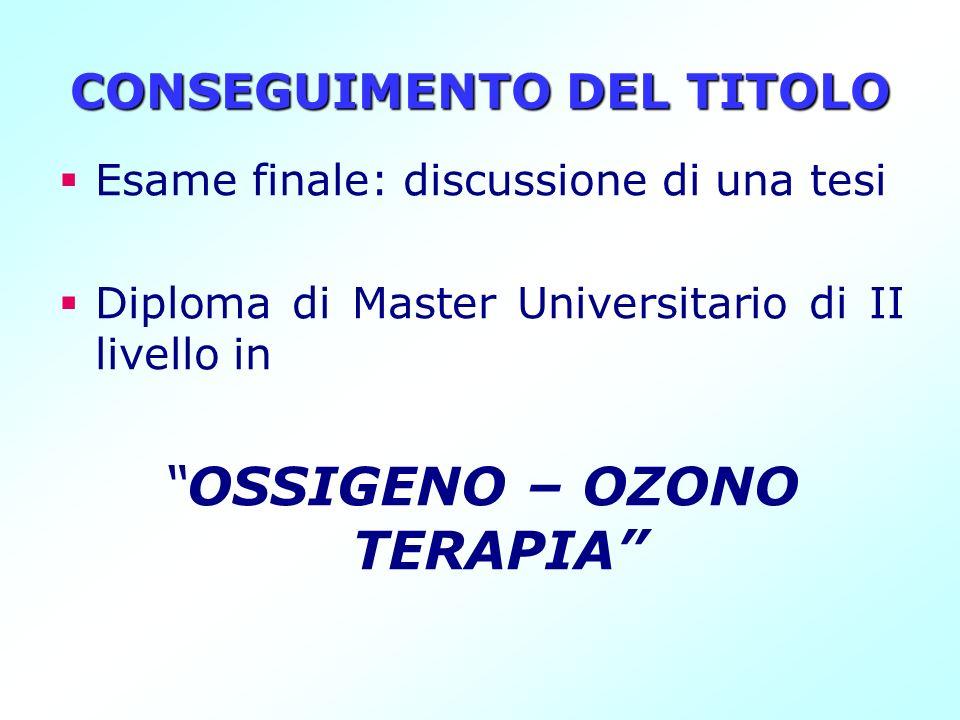 CONSEGUIMENTO DEL TITOLO