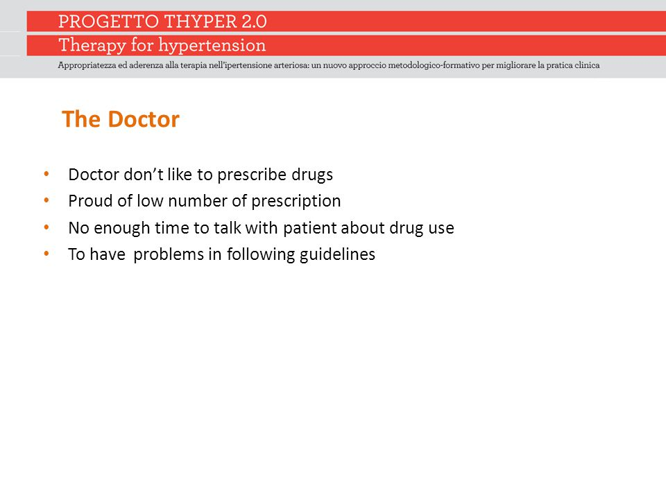 The Doctor Doctor don't like to prescribe drugs