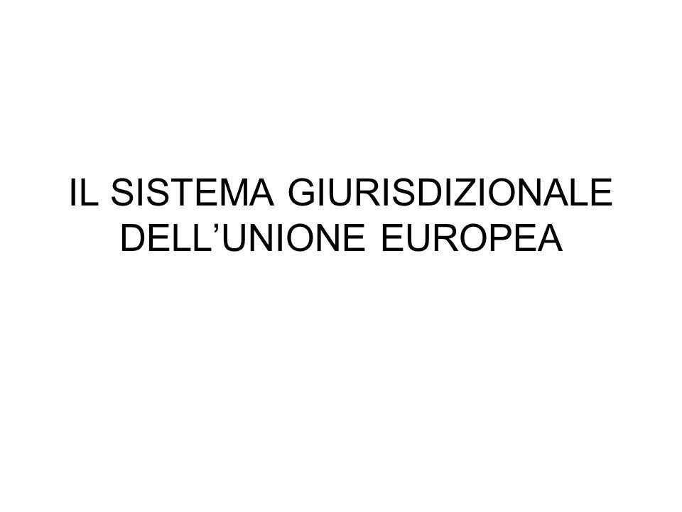 IL SISTEMA GIURISDIZIONALE DELL'UNIONE EUROPEA