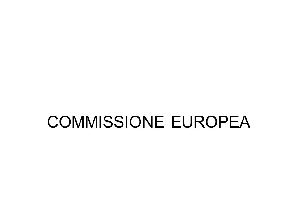 COMMISSIONE EUROPEA
