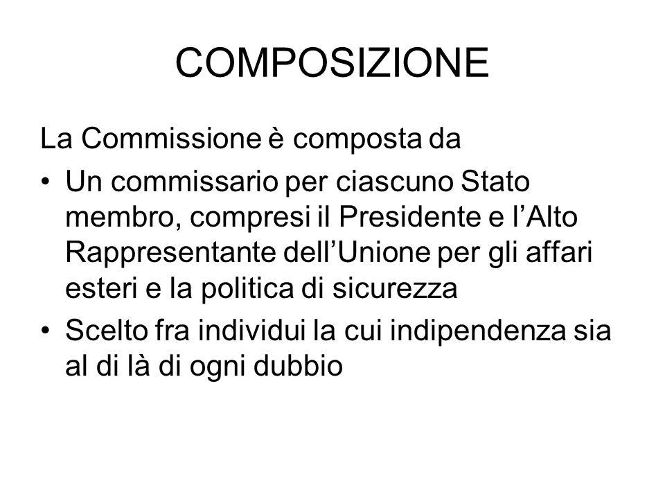COMPOSIZIONE La Commissione è composta da