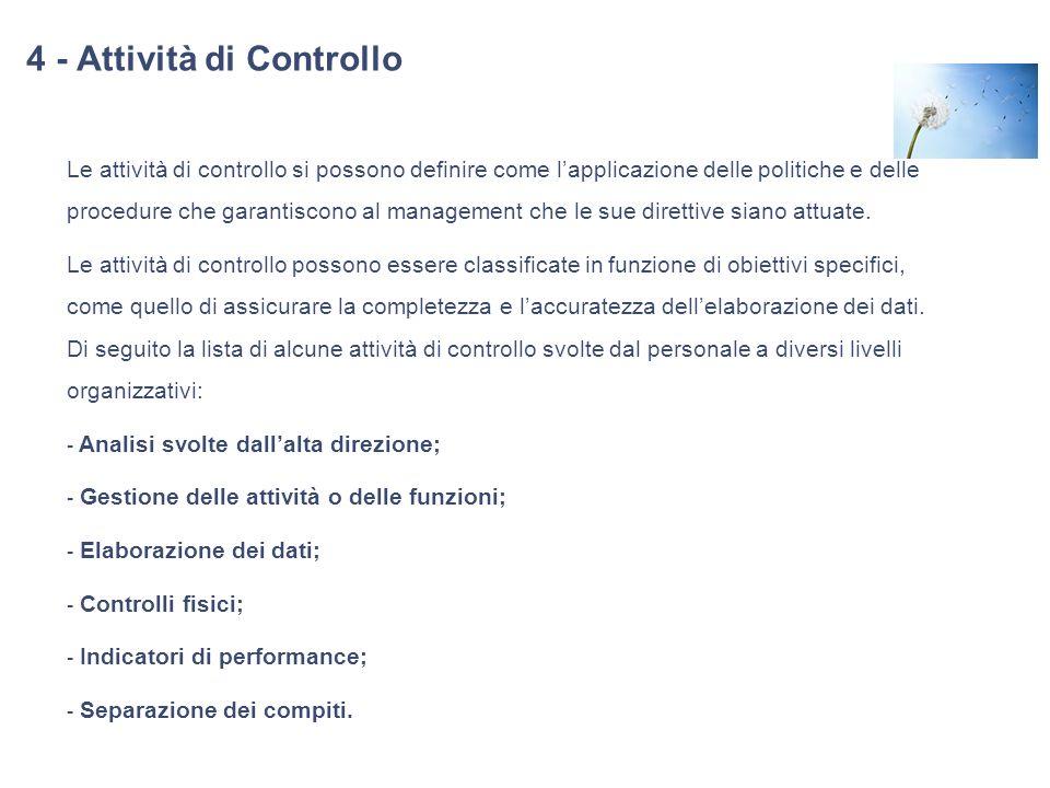 4 - Attività di Controllo