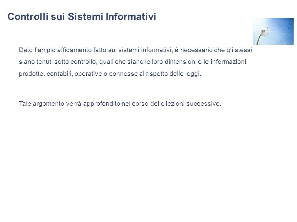 Controlli sui Sistemi Informativi