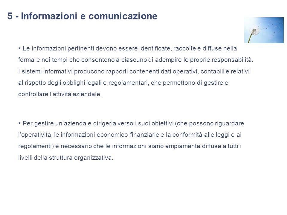 5 - Informazioni e comunicazione