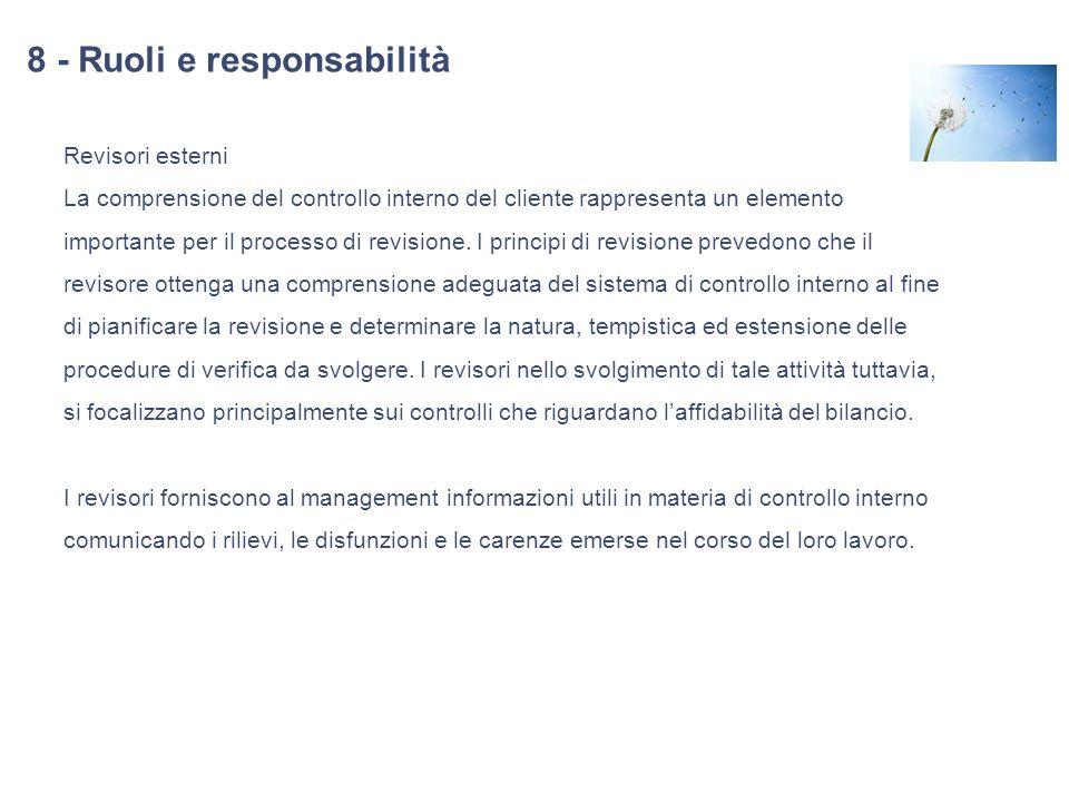 8 - Ruoli e responsabilità