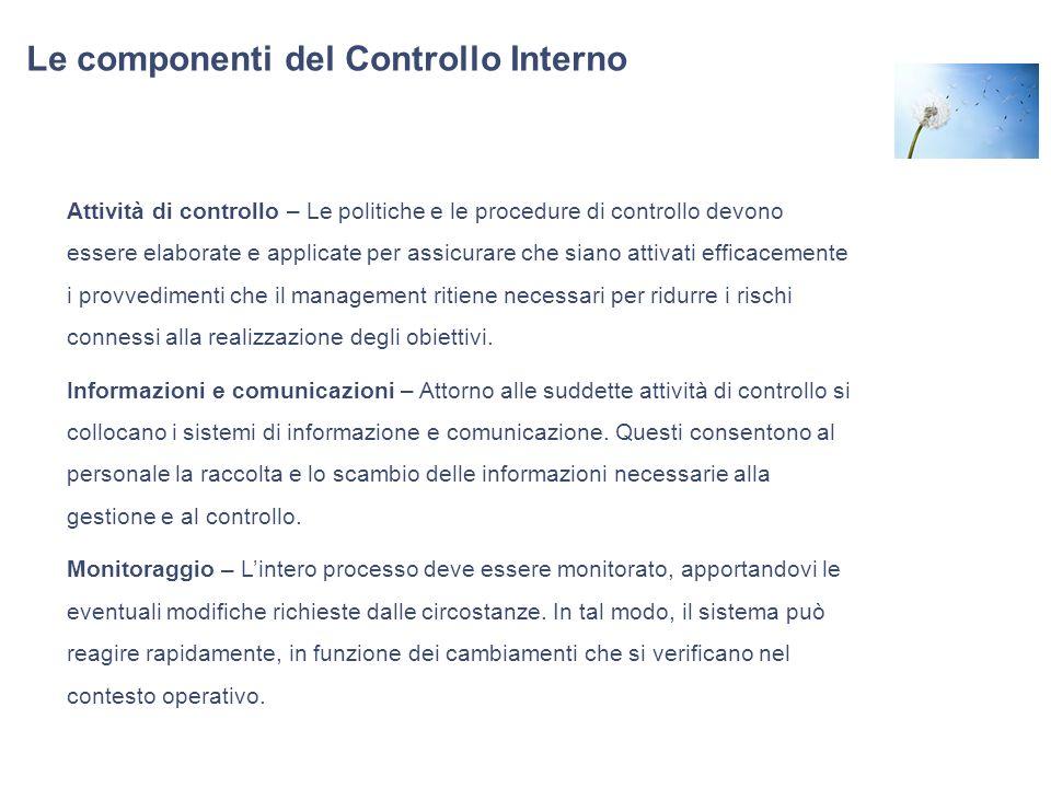 Le componenti del Controllo Interno