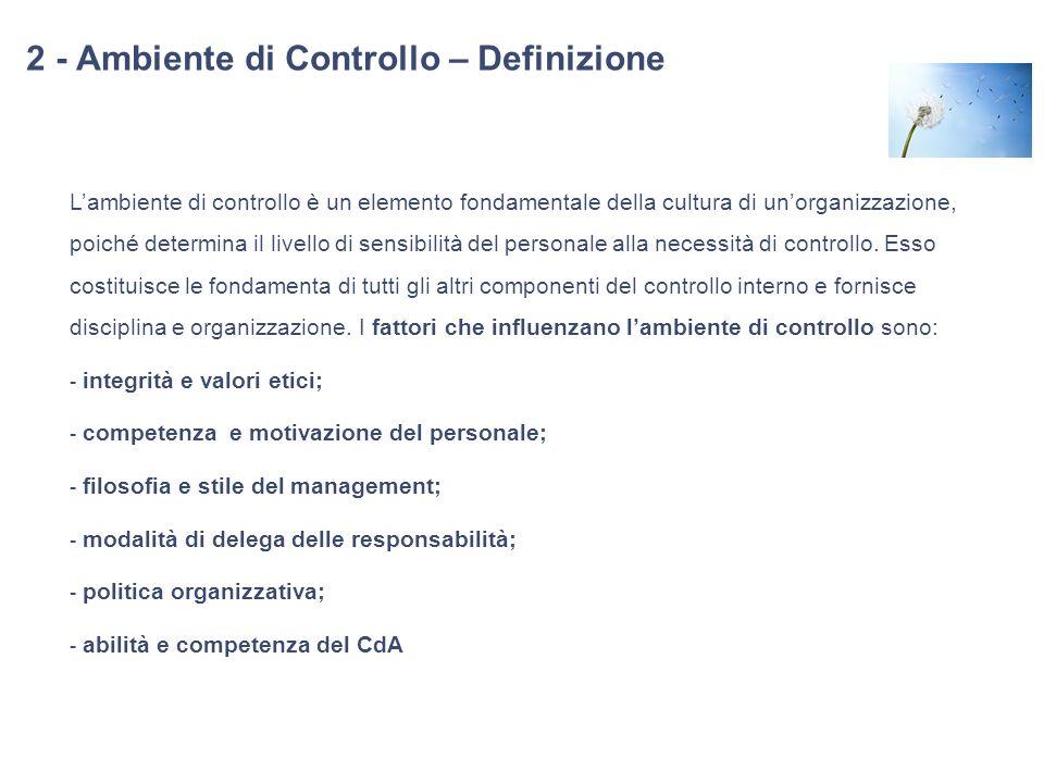 2 - Ambiente di Controllo – Definizione