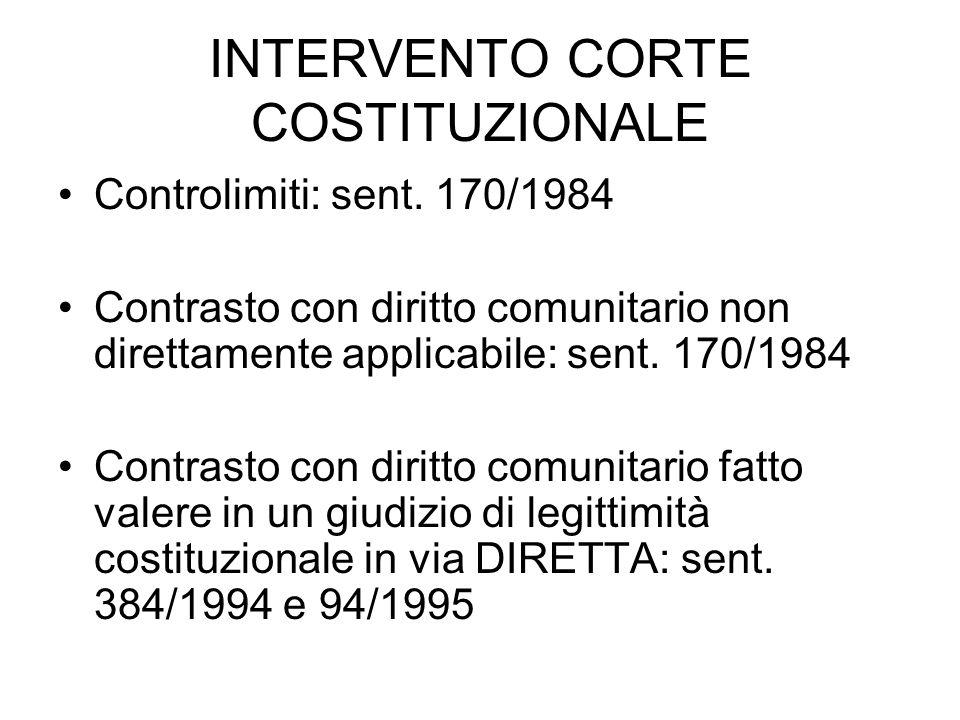 INTERVENTO CORTE COSTITUZIONALE