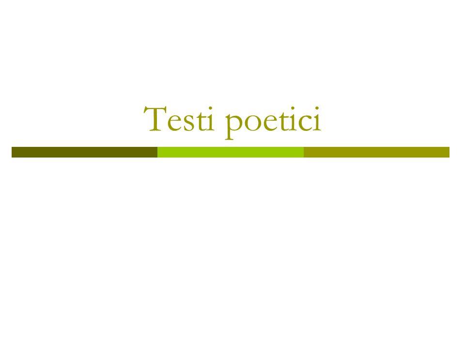Testi poetici
