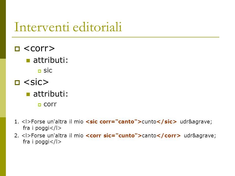 Interventi editoriali