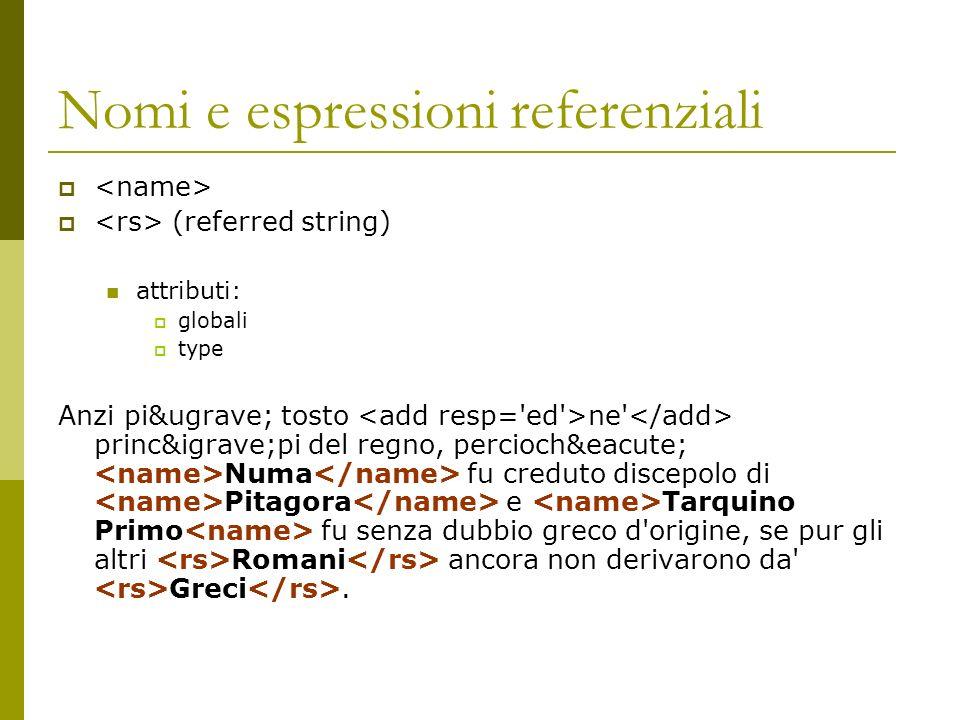 Nomi e espressioni referenziali