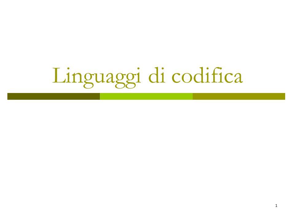 Linguaggi di codifica