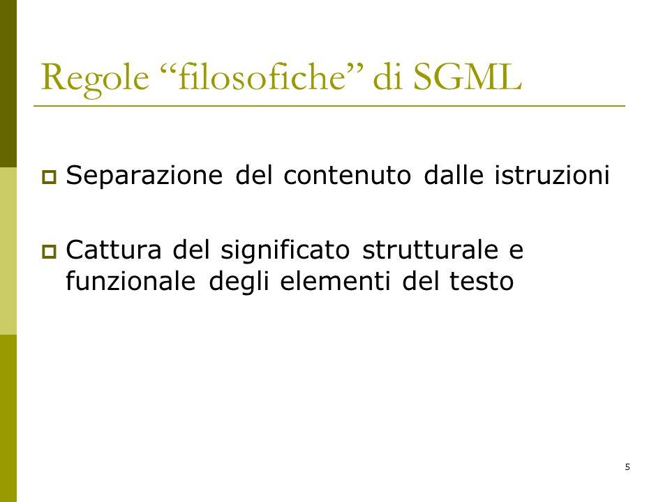 Regole filosofiche di SGML