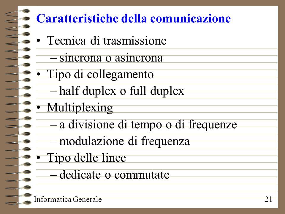 Caratteristiche della comunicazione