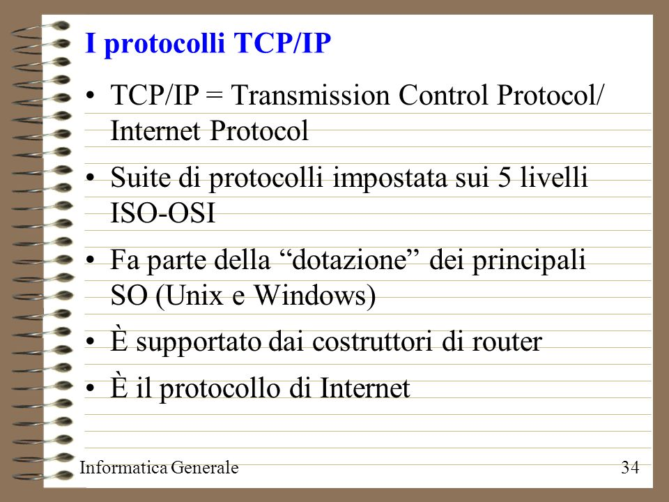 TCP/IP = Transmission Control Protocol/ Internet Protocol